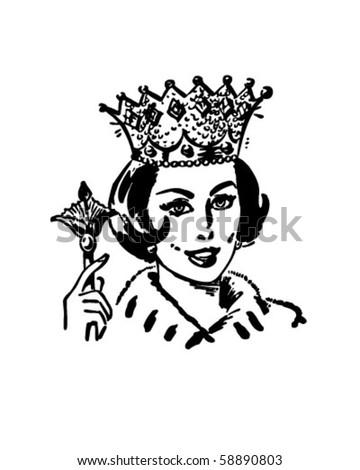 Queen Of The Household - Retro Clip Art