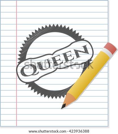Queen pencil effect