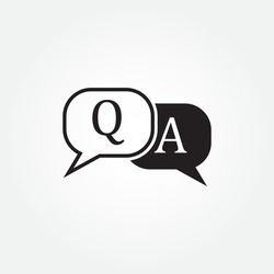 Question and Answer Icon design. vector illustration