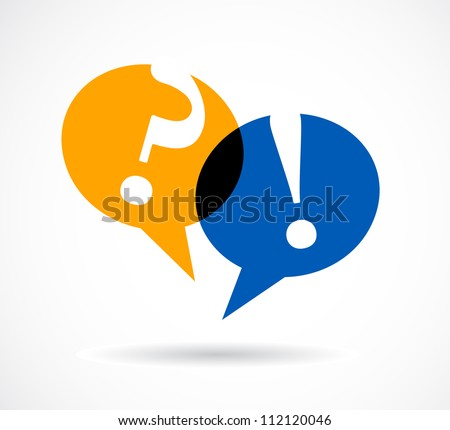 question and answer marks with speech bubbles