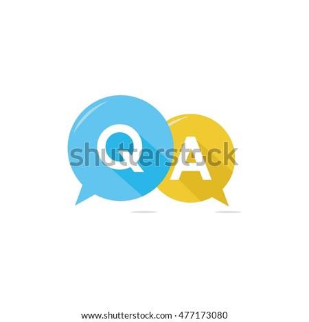 Question & Answer Bubble Chat