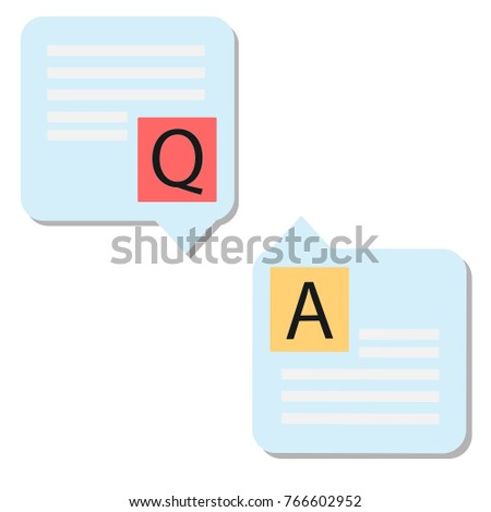 Question answer icon on white background. Question and answer sign. Q&A symbol. flat style.