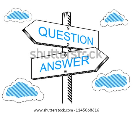 Question, answer signpost