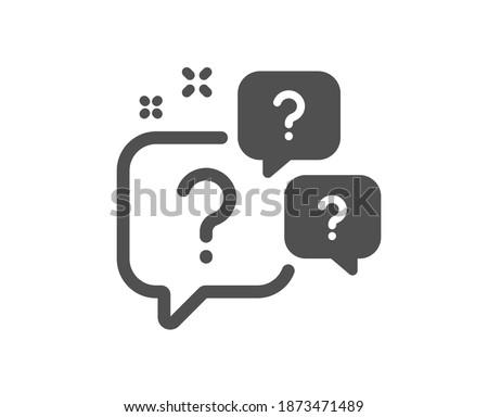 Question bubbles icon. Ask help sign. Faq questionnaire symbol. Quality design element. Flat style question bubbles icon. Editable stroke. Vector