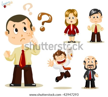 Question. Business People Vector