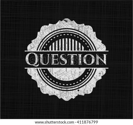 Question chalk emblem