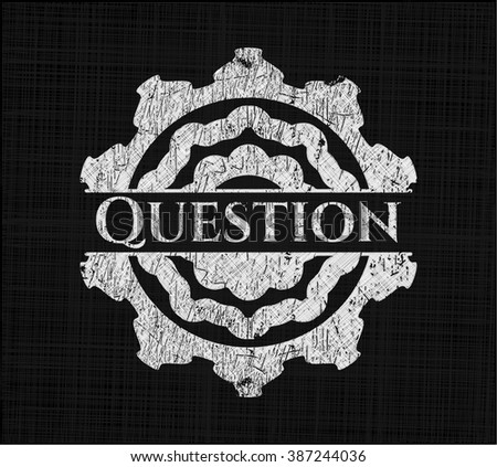 Question chalkboard emblem