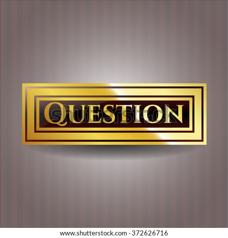 Question gold shiny emblem