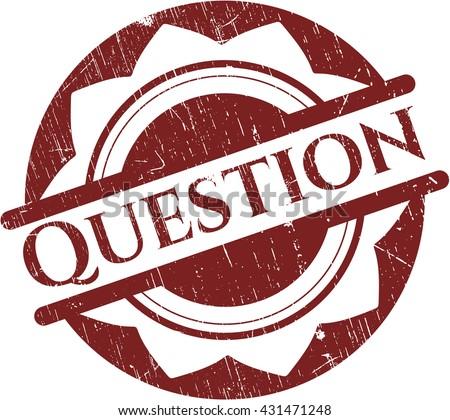 Question grunge seal