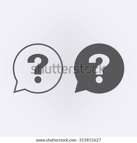 question icon in bubble set