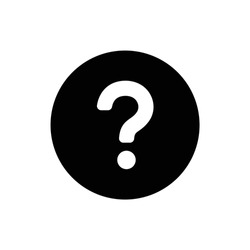 Question icon isolated on white background.