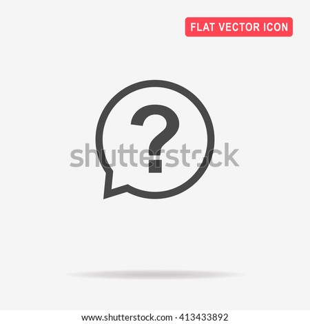 question icon vector concept