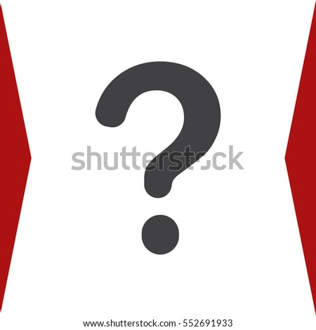Question Icon Vector flat design style