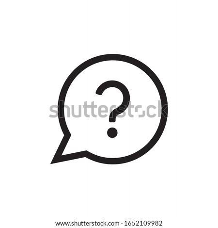 Question icon vector. Help icon in bubble vector design Foto stock ©