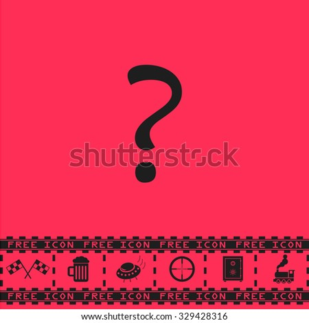 question mark black flat
