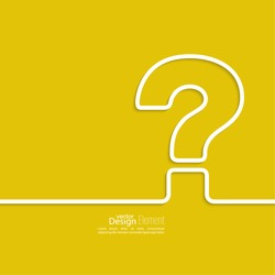 Question mark icon. Help symbol. FAQ sign on a yellow background. vector