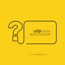 Question mark icon. Help symbol. FAQ sign on a yellow background. vector. minimal, outline.