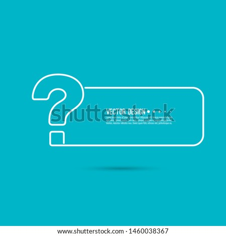 Question mark icon. Help symbol. FAQ sign on blue background. vector. minimal, outline. Quiz symbol.