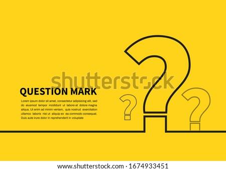 Question mark icon on yellow background. FAQ sign. Vector illustration Сток-фото ©
