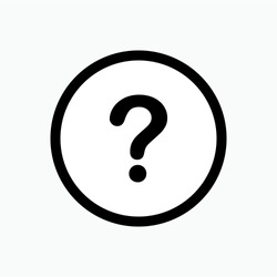 Question Mark Icon - Vector, Sign and Symbol for Design, Presentation, Website or Apps Elements.