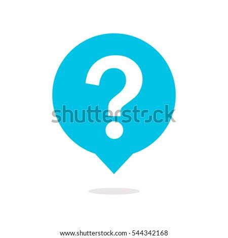Question mark on speech bubble icon Foto stock ©