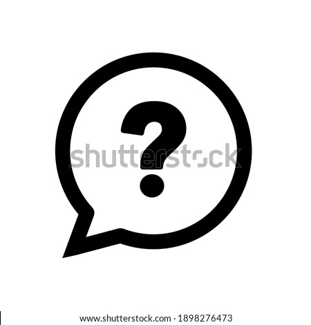 question mark on white background Foto stock ©