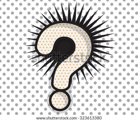Question Mark Shape Pop ArtComic Book Background Vector Illustration