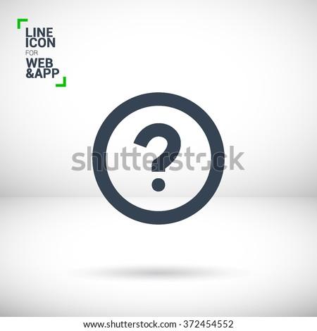 Question Mark Sign Icon Help Symbol FAQ Thin Line Circle Web Icons