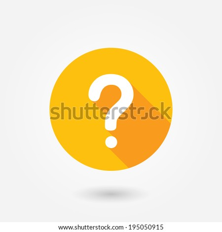 Question mark sign icon, vector illustration. Flat design style with long shadow. FAQ button. Asking questions. Ask for help. Question mark stamp. Need information. Query.