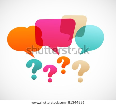 Question Mark Vector Free Question Mark With Speech
