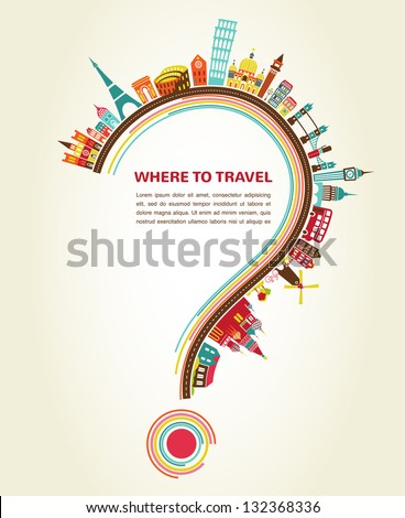 question mark with tourism