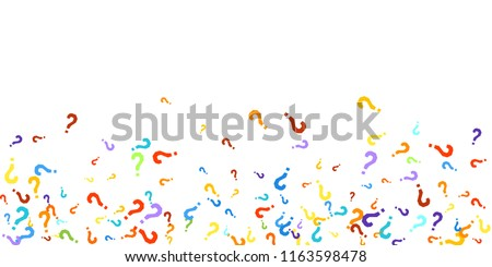 Question Marks Scattered On White Background Quiz Doubt Poll Survey Faq