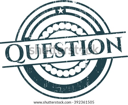 Question rubber stamp with grunge texture