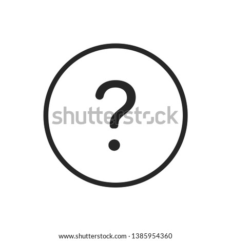 Question Social Media Icon Isolated On White Background. Help Symbol Modern Simple Vector For Web Site Or Mobile App