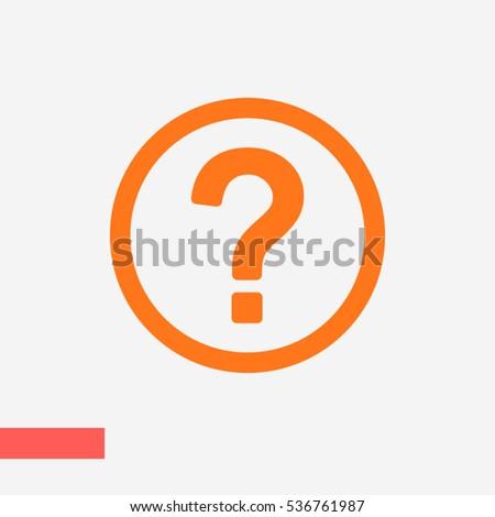 question vector icon