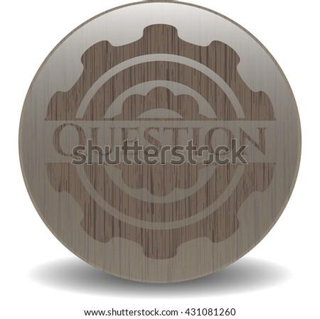 Question wood emblem