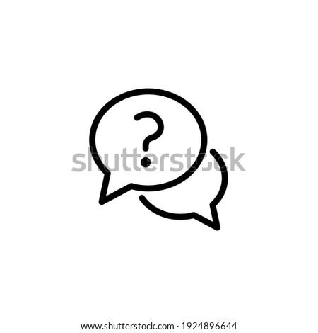 Questions and Answer icon. Faq line icon symbol design