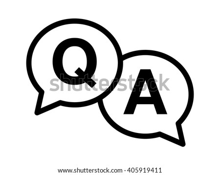 Questions & answers or Q&A speech bubbles Line art icon for apps and websites