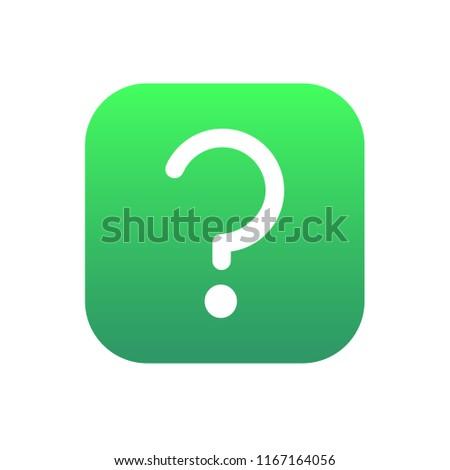 questoin mark icon button vector on white background Stock photo ©