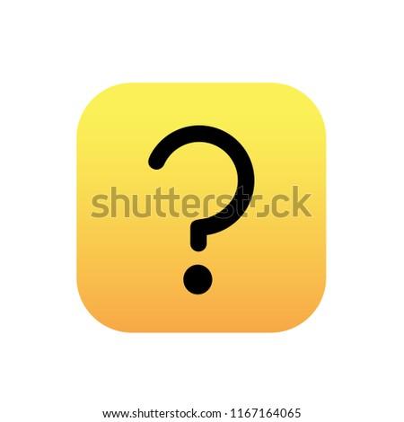questoin mark icon vector button on white background Stock photo ©