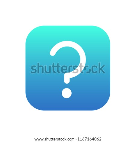 questoin mark icon vector on white background Stock photo ©
