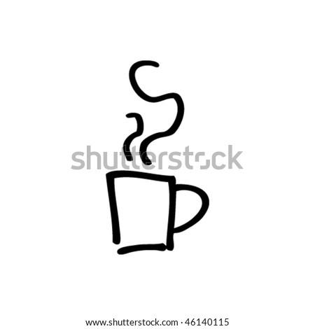 quick drawing of a mug of coffee