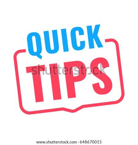 quick tips. badge icon. flat...