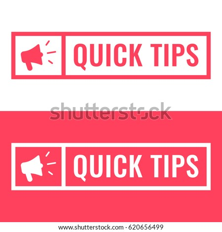quick tips. badge with...