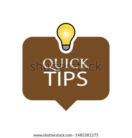 Quick Tips Banner - Icon, Sign & Symbol Logo Vector.