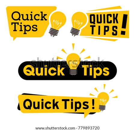 quick tips logo  icon or symbol ...