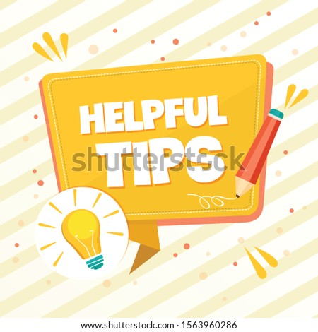Quick tips, tips badges icons. Flat vector illustration
