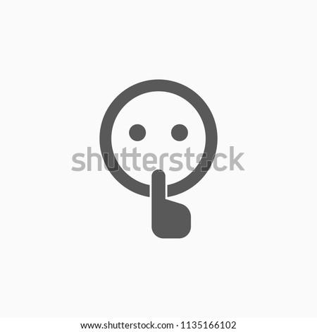 quiet icon, silence vector