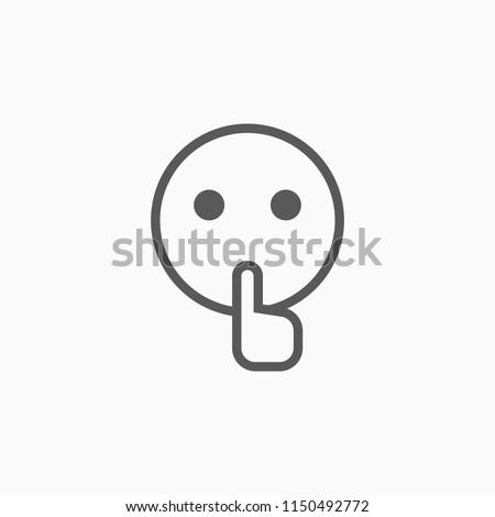 quiet icon  silence vector