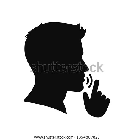 Quiet, please. Keep silence symbol. Keep quiet sign – vector
